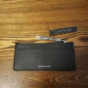 Love & Lore Zipper Cardholder - Black